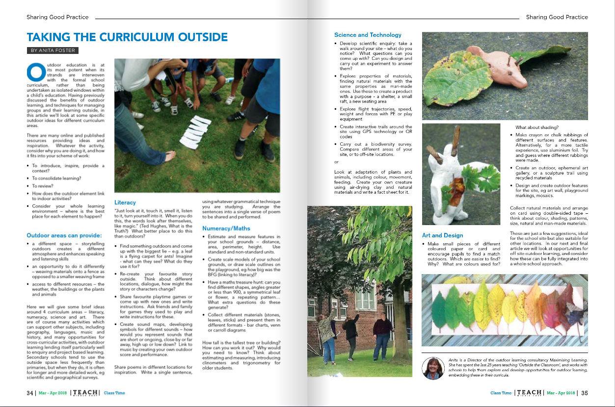 Taking the Curriculum Outdoors